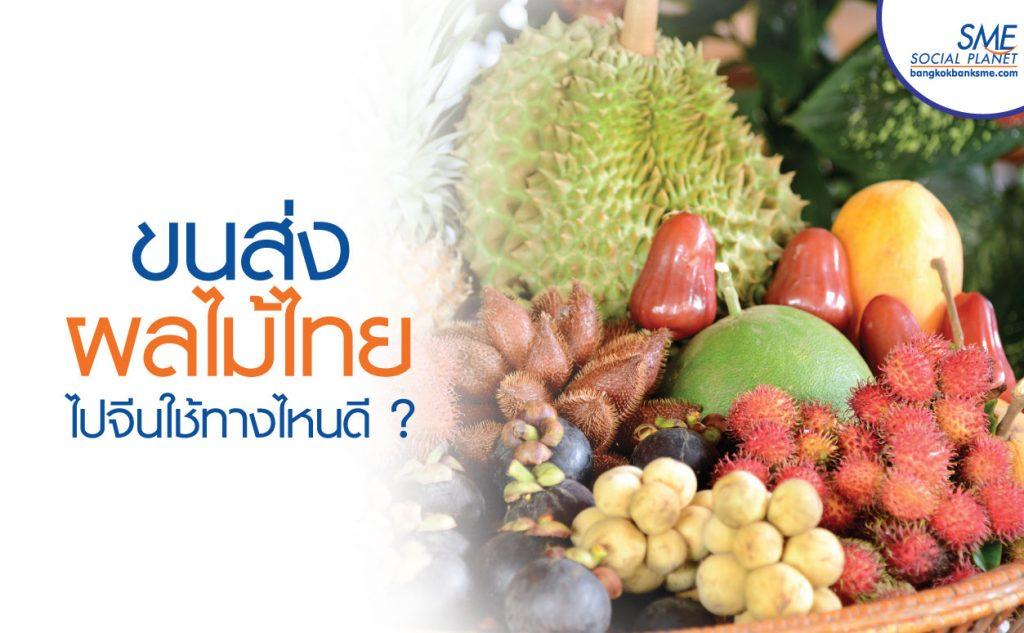 4 + 2 เส้นทางส่งผลไม้ไทยสู่แดนมังกร