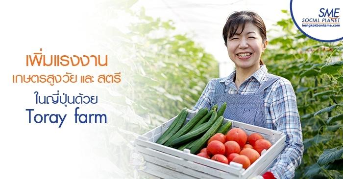เพิ่มแรงงานเกษตรสูงวัยและสตรีในญี่ปุ่นด้วย Toray farm