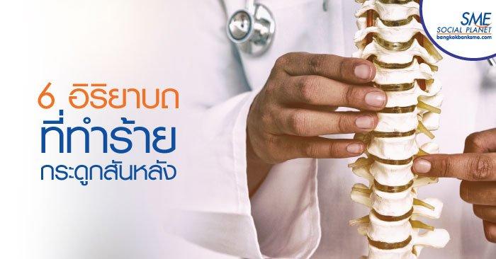 'กระดูกสันหลัง' อวัยวะสำคัญที่ต้องใส่ใจดูแล